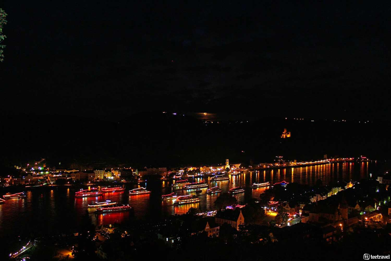 Barcos desde donde disfrutar del Rhein in Flammen