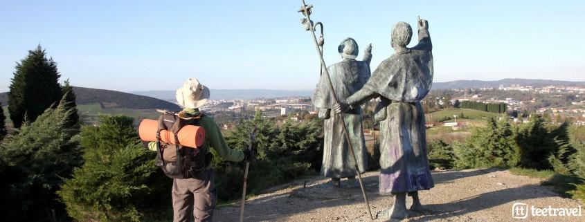 Estatua de los peregrinos