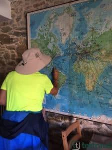 Camino de Santiago Peregrino dejando su rastro