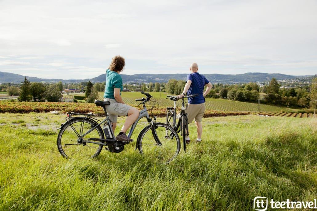 Fiordos Noruegos Ciudad de Drammen Viaje en Bicicleta