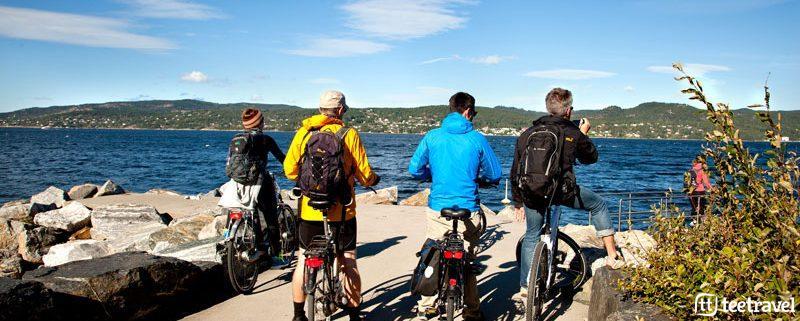 Fiordo de Oslo Fiordos Norugos Viaje en bicicleta viaje en familia