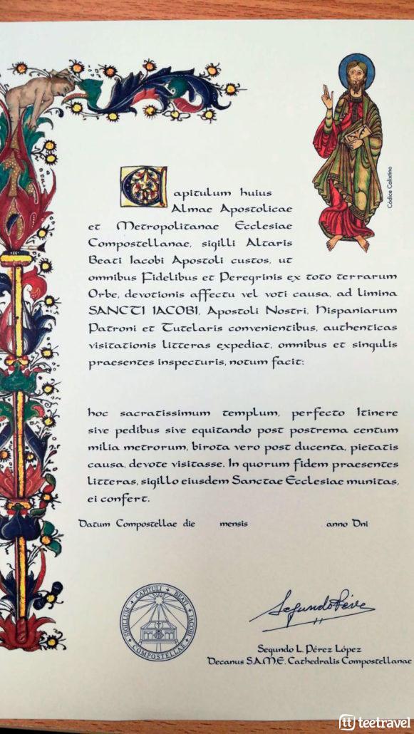 Certificados del Peregrino - La Compostela