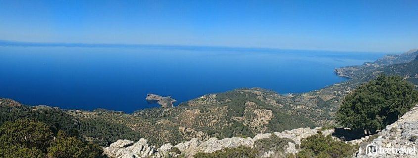 Vistas del Mediterráneo desde Serra de Tramuntana