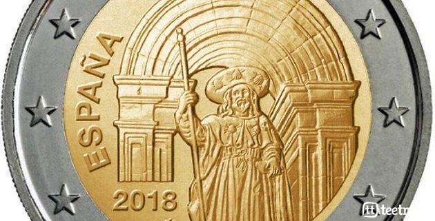 Moneda de dos euros en honor al Camino de Santiago