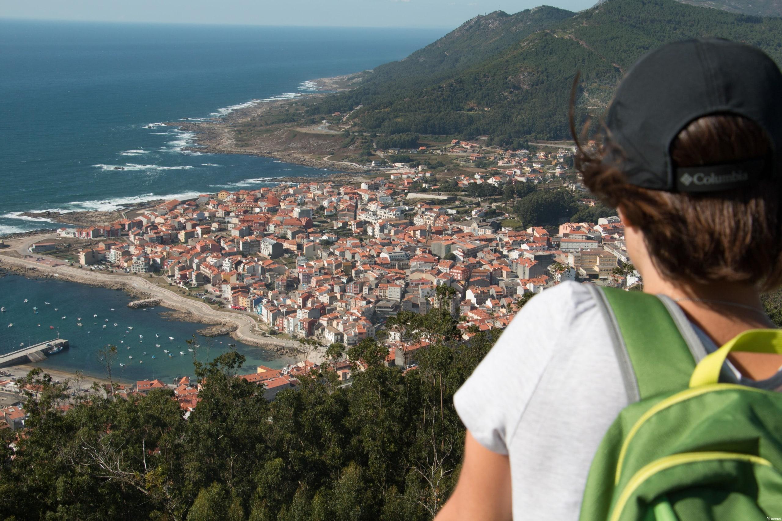 Camimo Portugués por la Costa - vistas de A Guarda desde el Monte del Castro de Santa Tegra- Galicia