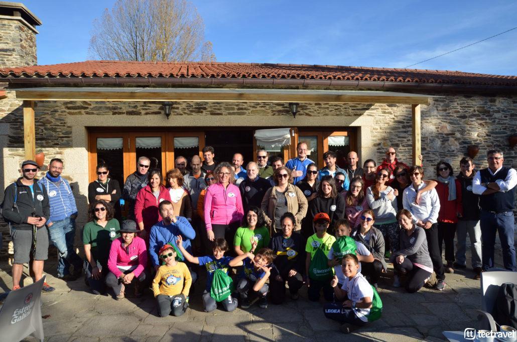 Foto de equipo tras el fin de la primera edición de Camino Clean