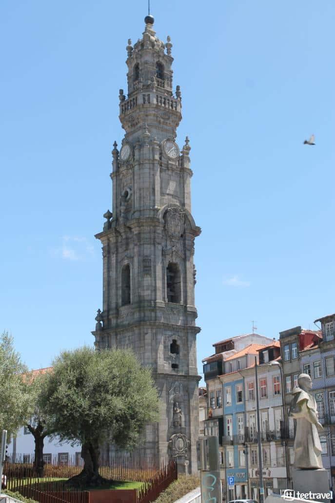 Camino Portugues desde Oporto-Torre dos Clerigos