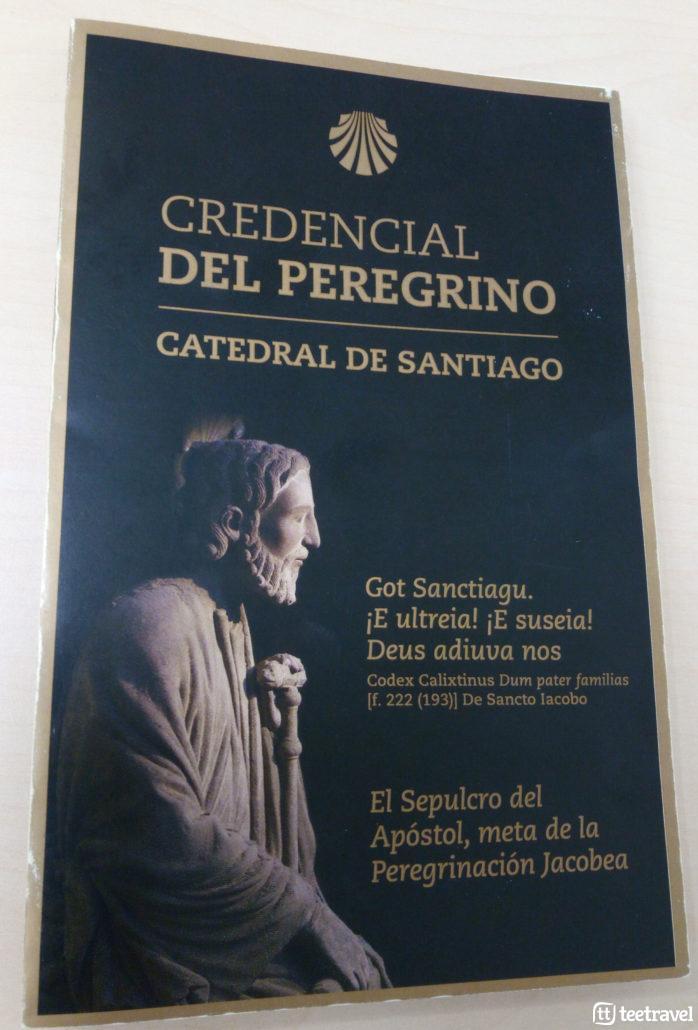 Camino Portugués en grupo organizado- Credencial del Peregrino
