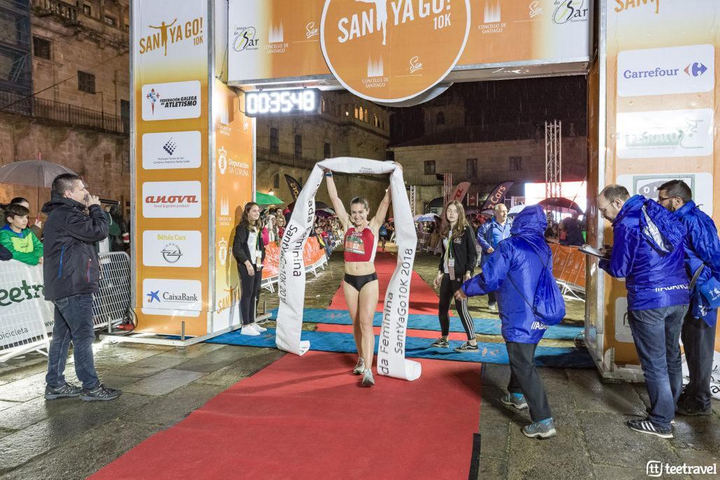 Leticia Fernández ganadora en categoria femenina- ©Foto Forum Compostela