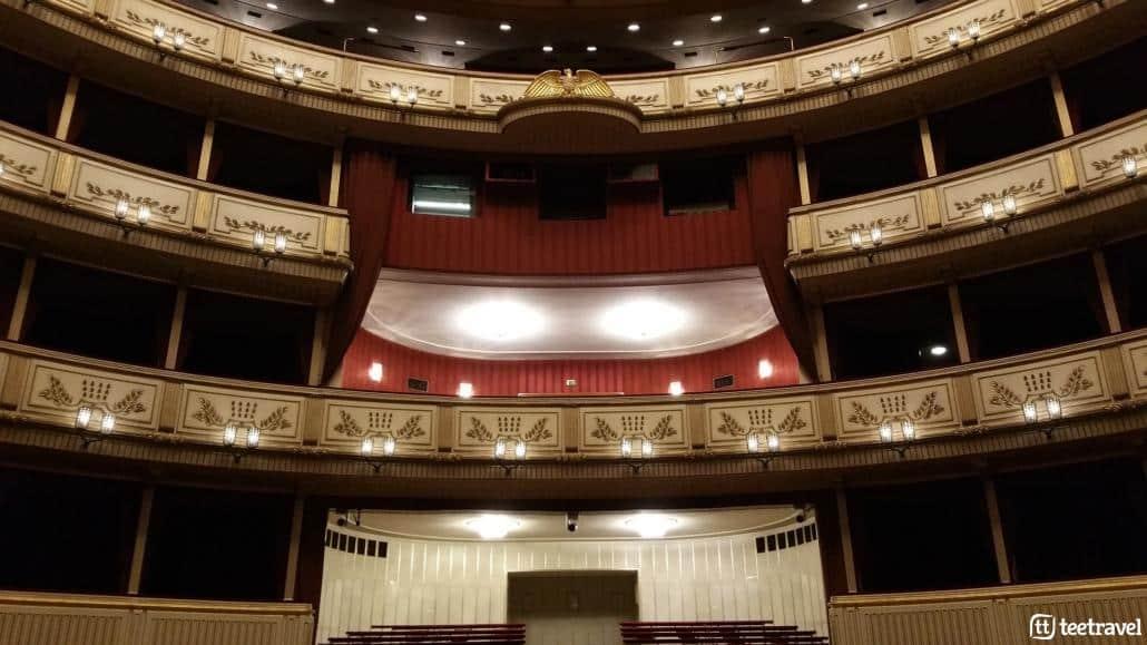 Viena y la música clásica- Interior de la Ópera estatal de Viena