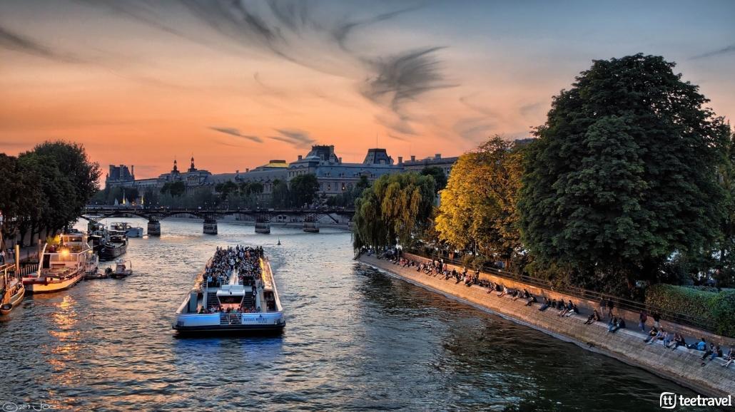 Avenue Verte: París y Londres en un mismo viaje- El río Sena a su paso por la ciudad de París