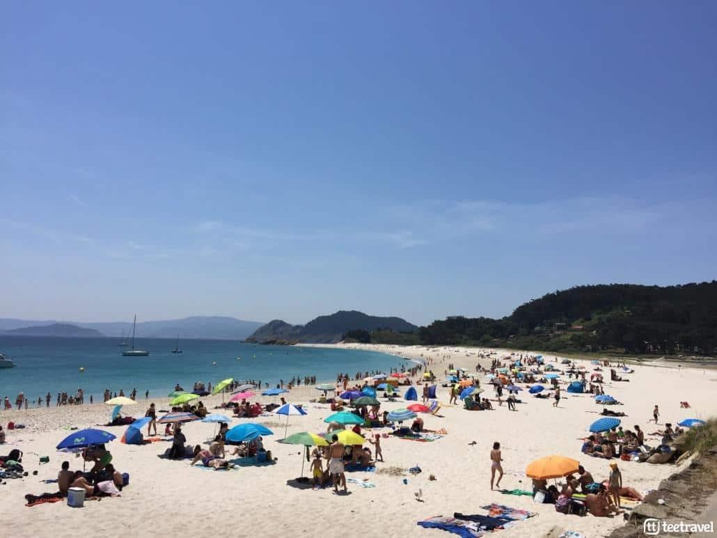 Planes de ocio para este verano en Galicia- Playa de Rodas en las Illas Cíes