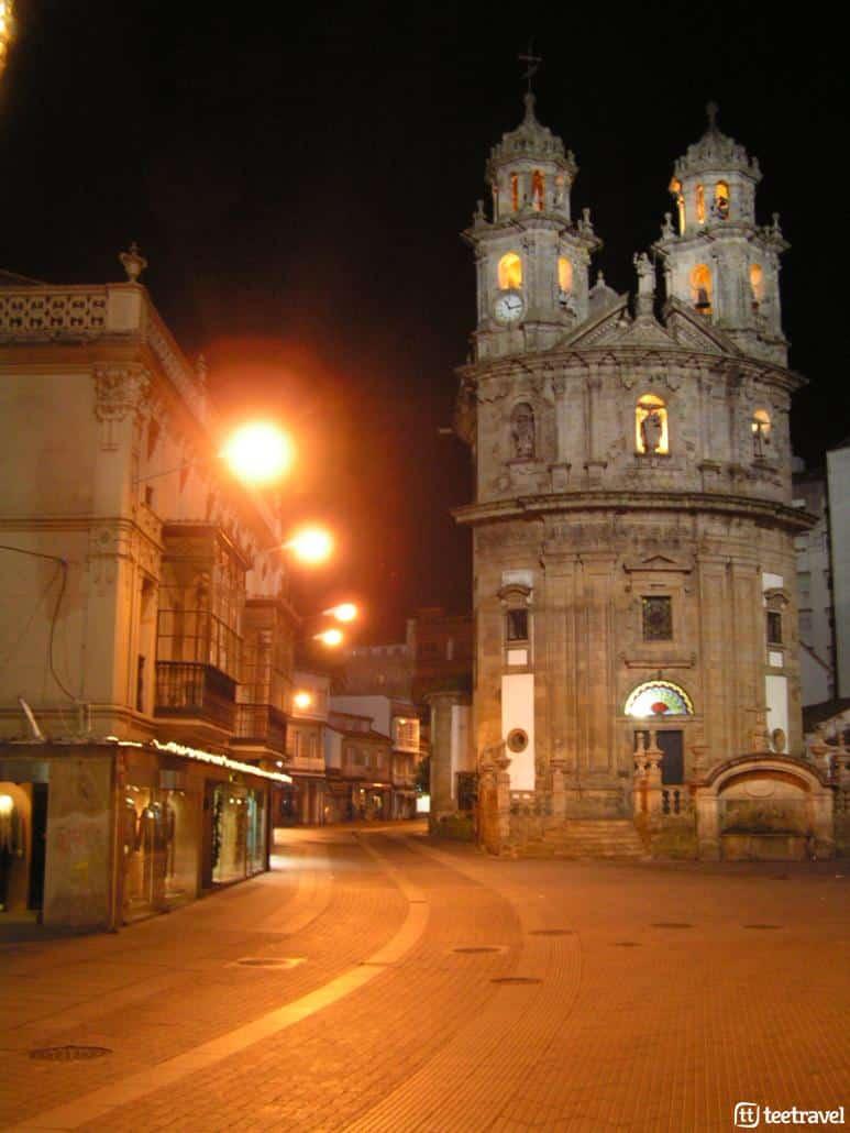 Fiestas en agosto en Galicia: iglesia de la Peregrina