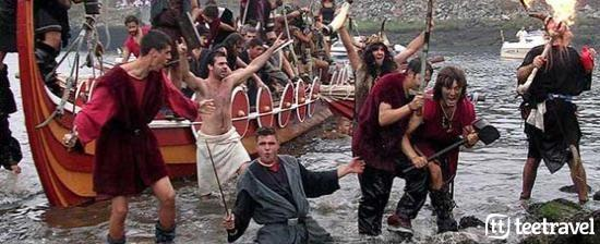 Fiestas en agosto en Galicia: desembarco vikingo