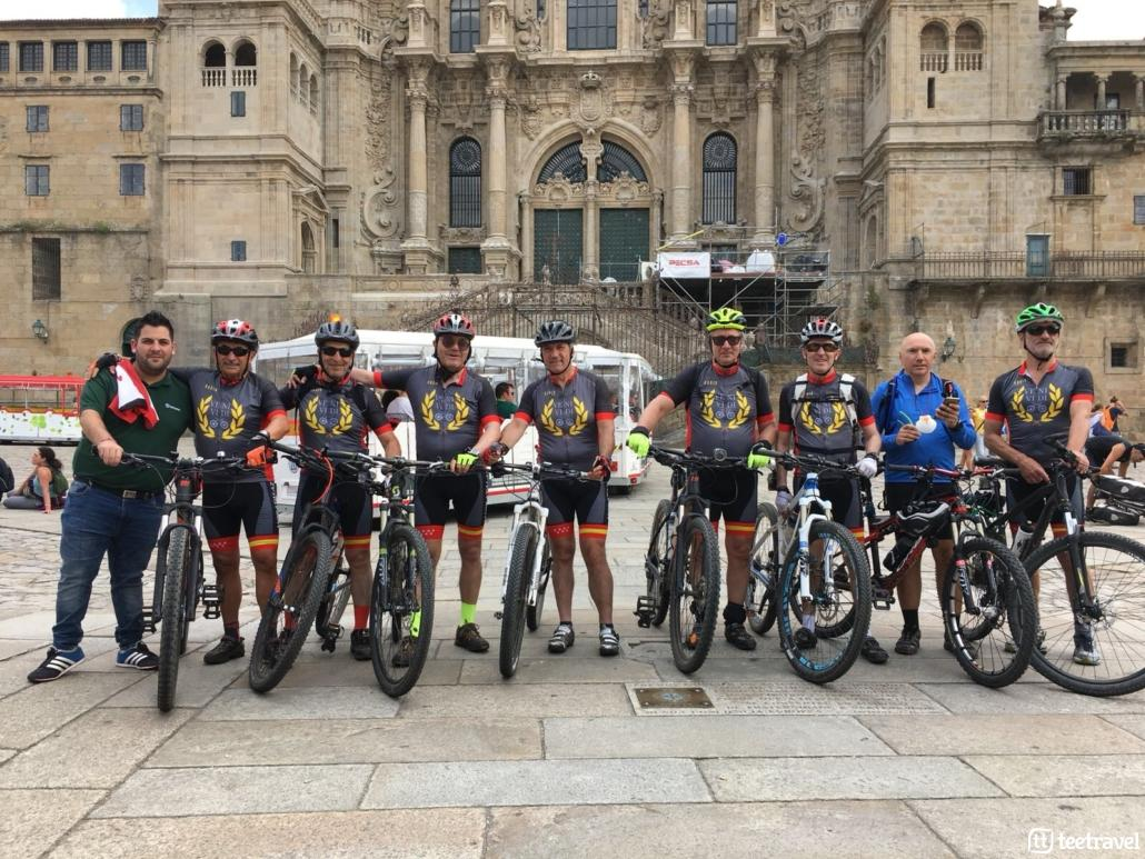 Camino de Santiago en bici desde León: llegada a Santiago de Compostela