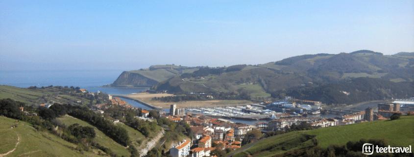 De San Sebastián a Bilbao por el Camino del Norte - vistas de Deba y sus acantilados