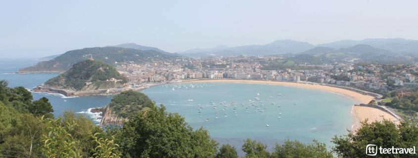 De San Sebastián a Bilbao por el Camino del Norte - vista aérea de San Sebastián