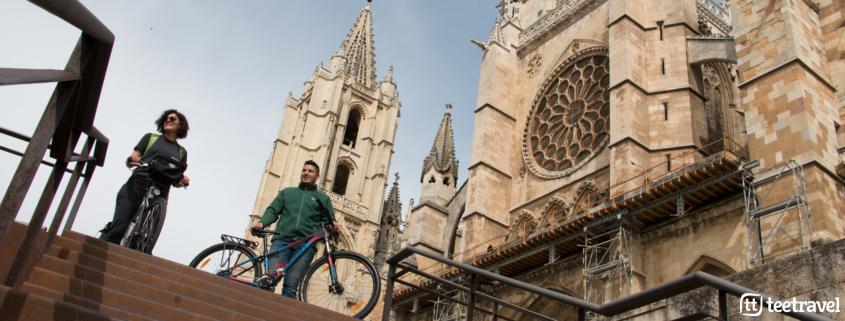 Camino de Santiago en bici desde León : Catedral de León