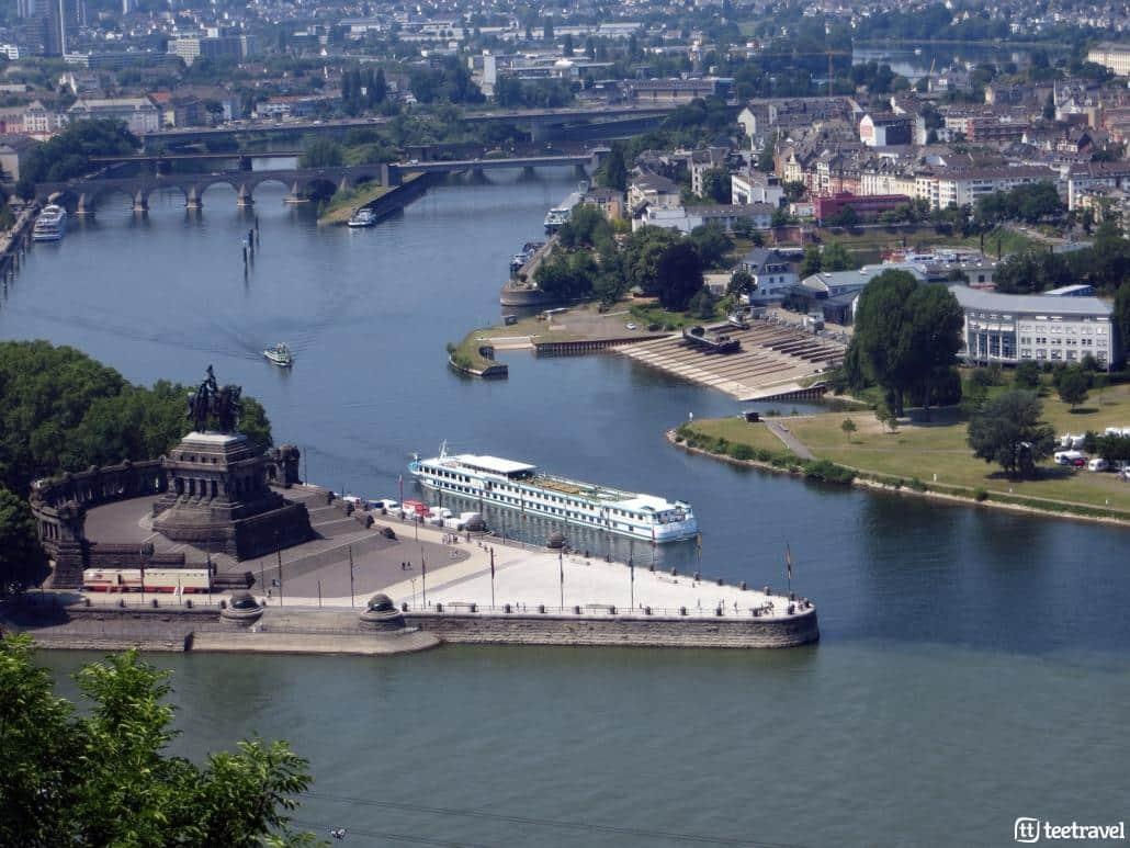 Rheinsteig: Koblenz punto de encuentro de ríos