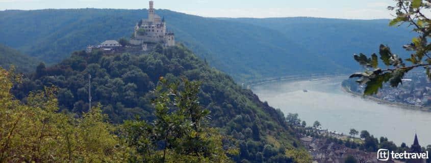 Los miradores del Rheinsteig - Castillo Marksburg