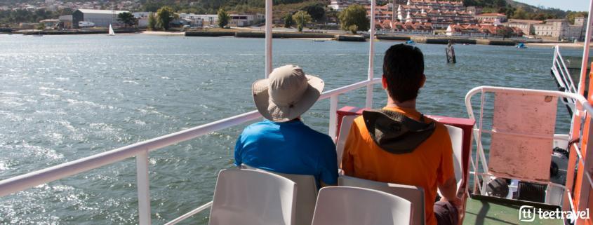 Viaje en grupo en barco y a pie - Ferry que os llevará desde Caminha en Portugal hasta A Guarda en Galicia