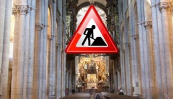 Obras en el interior de la Catedral de Santiago 2019