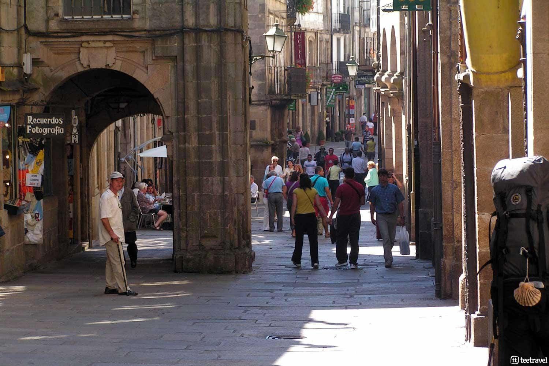 Que ver en Santiago de Compostela -Calles de Santiago de Compostela