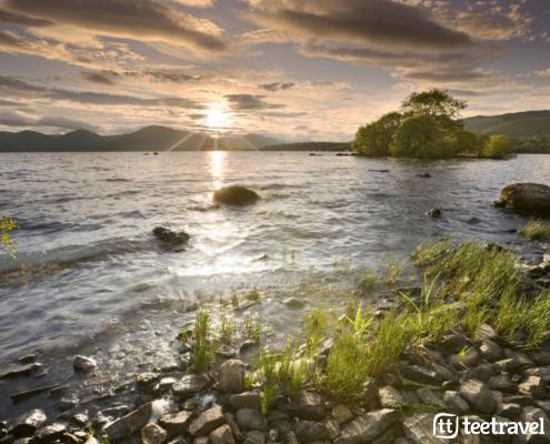West Highland Way - Puesta de sol en el Loch Lomond