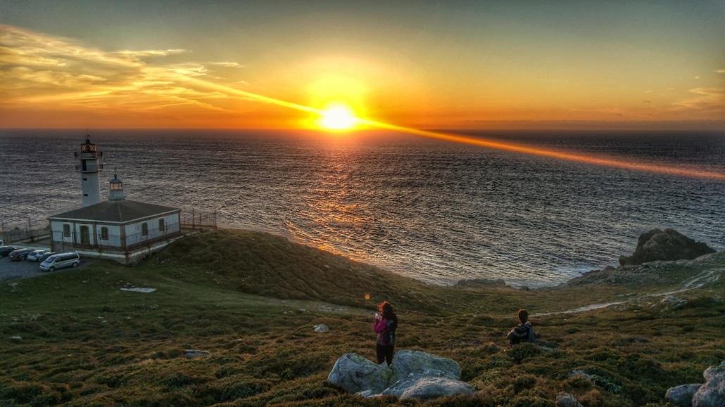 Costa da Morte - puesta de sol en Faro Touriñán