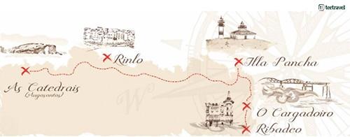 Costa de Lugo - Ribadeo - Isla Pancha - Rinlo - Playa de las Catedrales