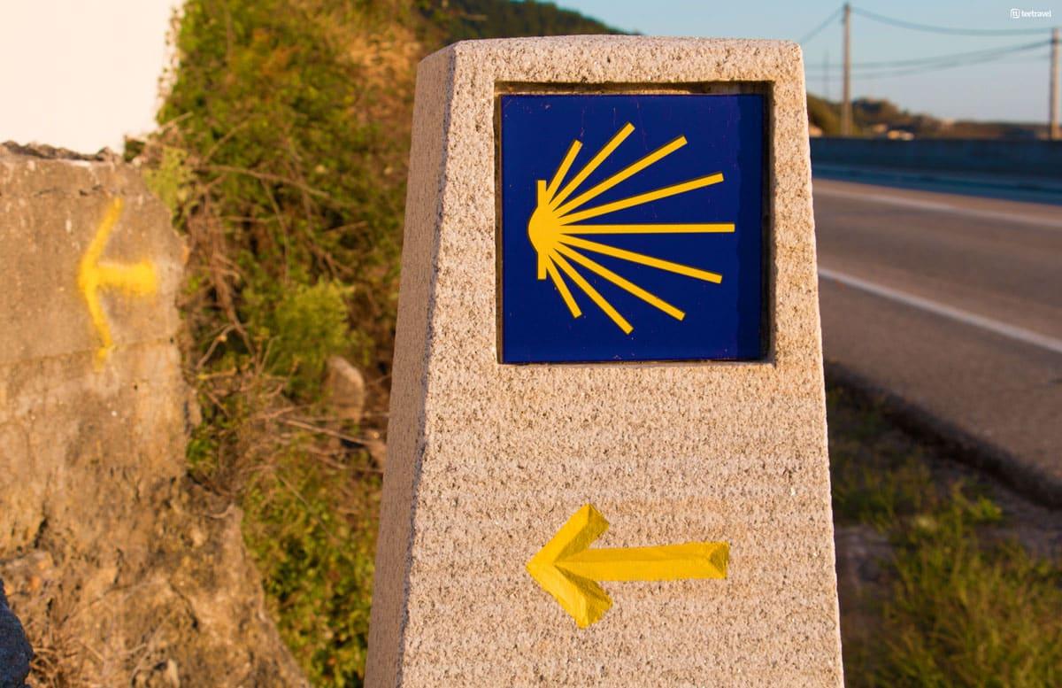 """Camino Portugués por la Costa - Señalización """"Mojón"""""""