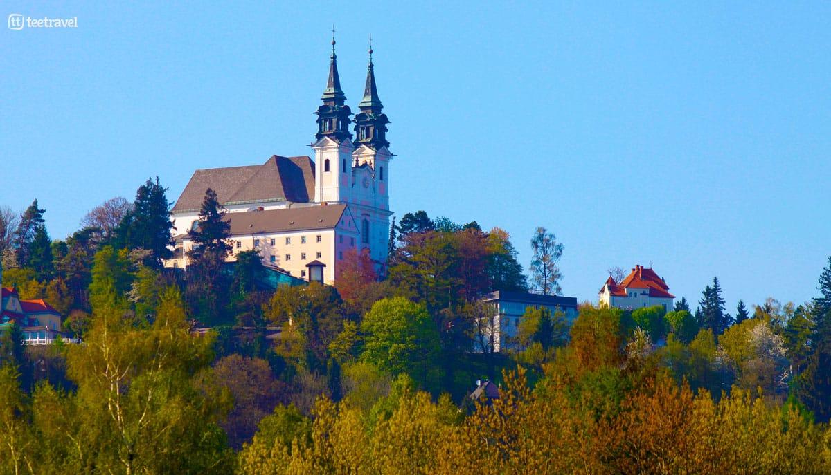 Ruta del Danubio en bici - Pöstlingberg - colina en Linz