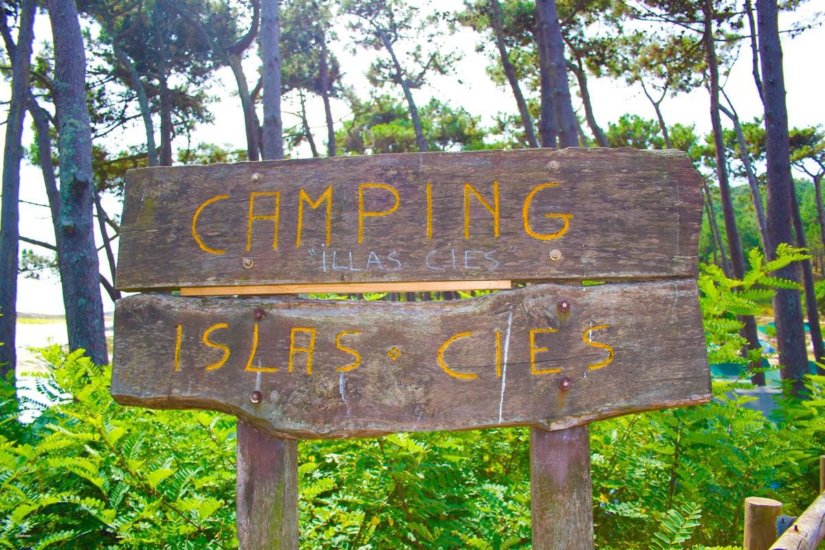 Señalización Camping Islas Cíes