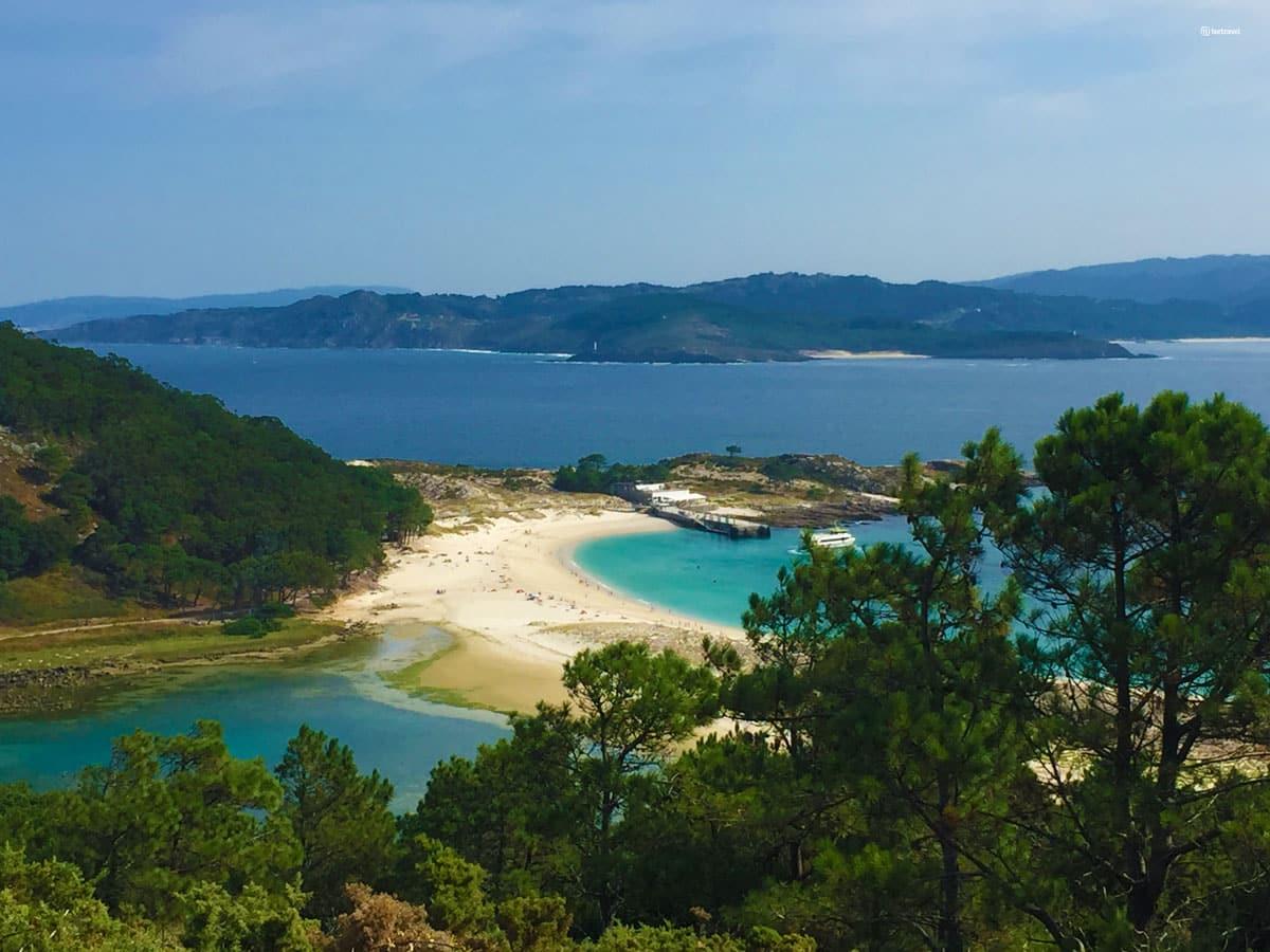 Islas Cíes - Vistas desde el Mirador Pedra da Campá