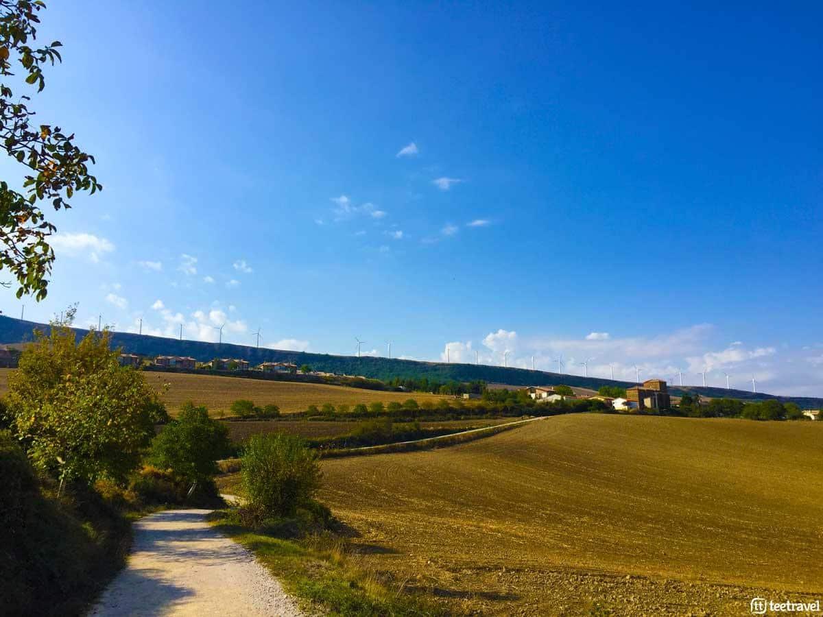 Zariquiegui de camino al Alto del Perdón - Camino Francés