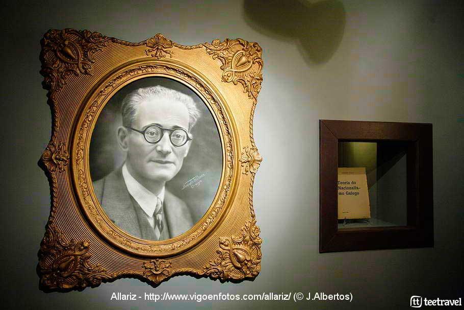 Foto de Vicente Risco en la Fundación Vicente Risco en Allariz - Ourense