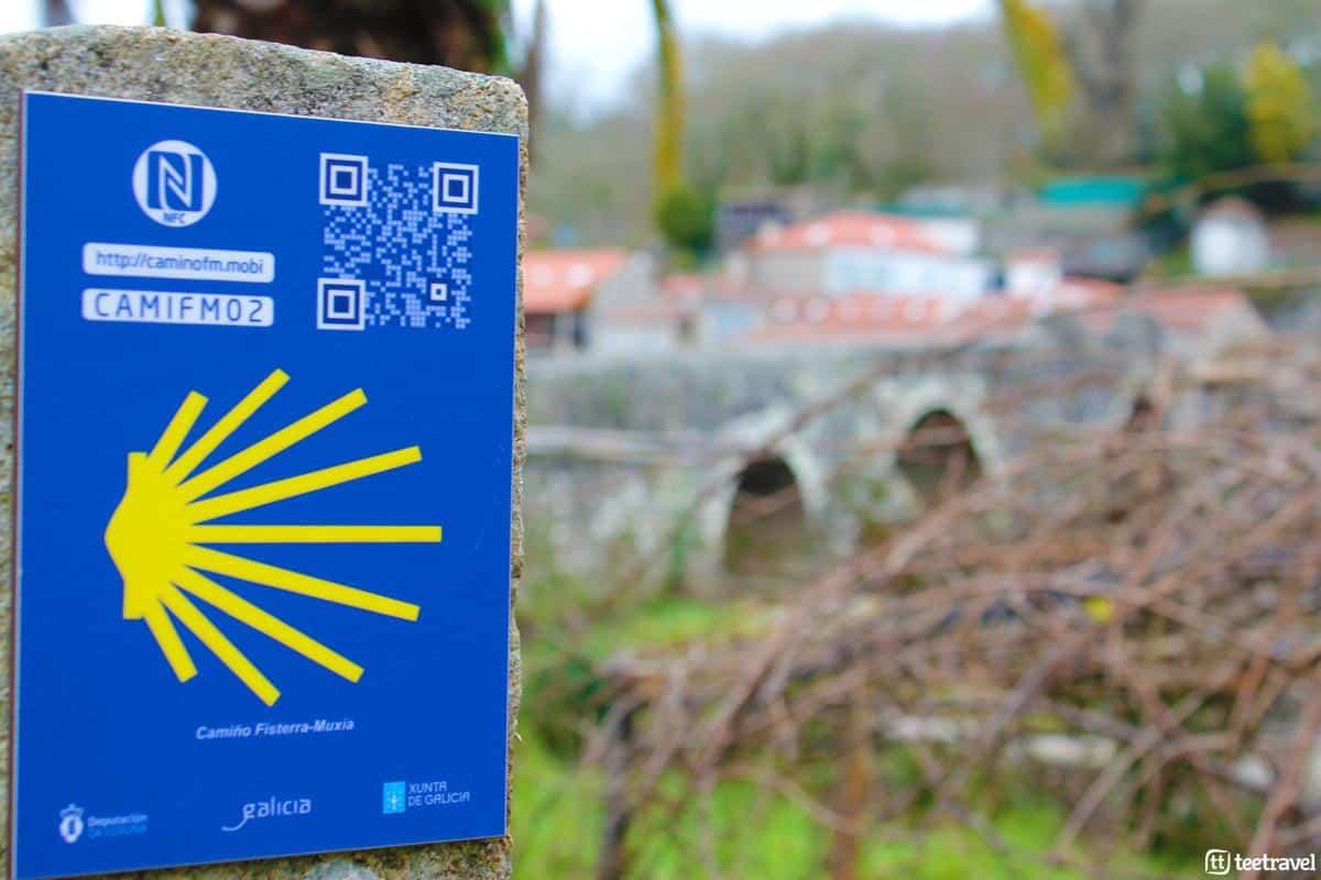 Señalización del Camino de Santiago - Santiago de Compostela-Muxía
