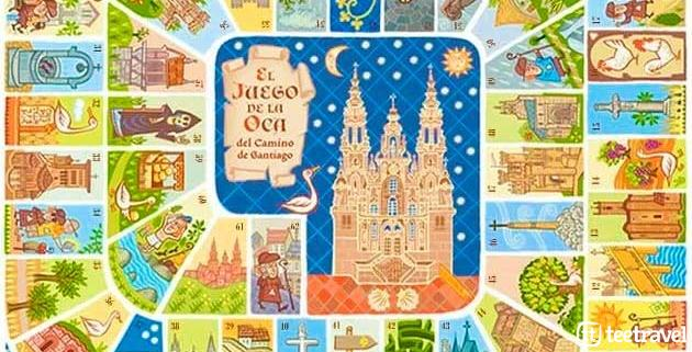Camino de Santiago de Compostela - Juego de la Oca