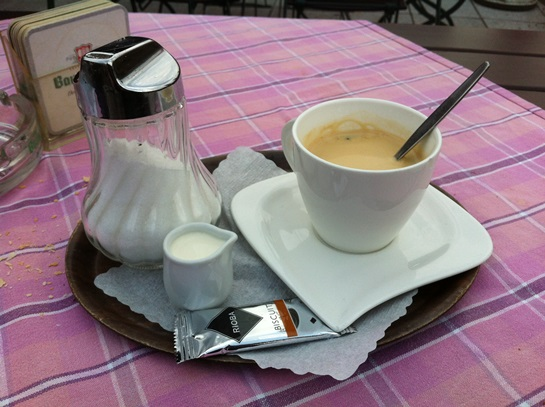 Un café en el Danubio