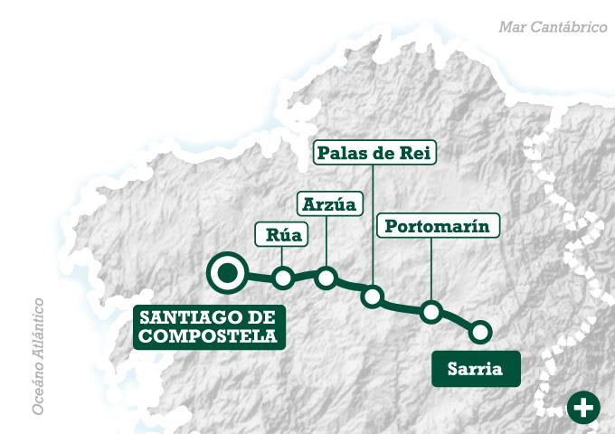 Los ltimos kilmetros del Camino de Sarria a Santiago  Tee Travel