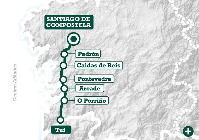 El camino portugu s a pie de tui a santiago tee travel for Ruta del mueble sarria