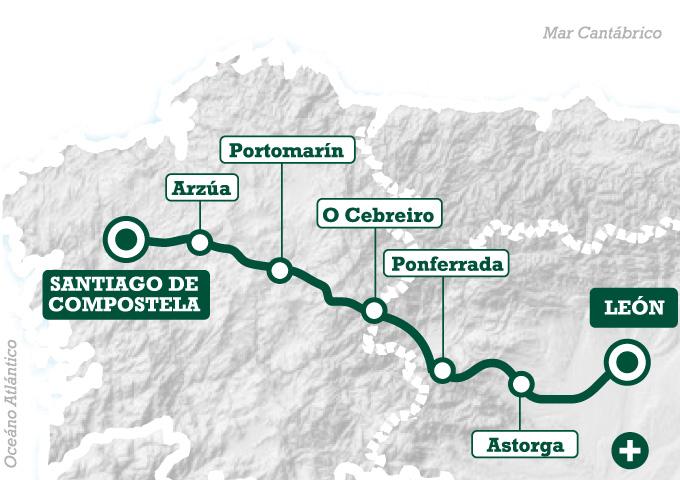 De le n a santiago en mountain bike tee travel for Ruta del mueble sarria