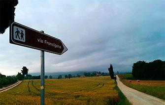Vía Francígena en la Toscana Lucca - Siena