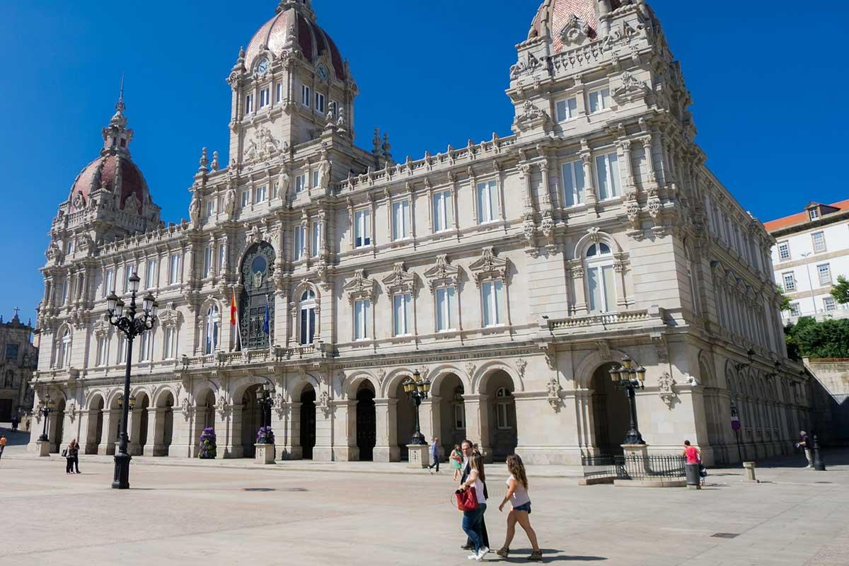 Galicia - A Coruña - Plaza de María Pita